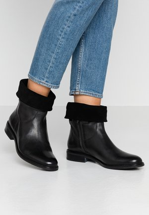 LEATHER CLASSIC ANKLE BOOTS - Classic ankle boots - black