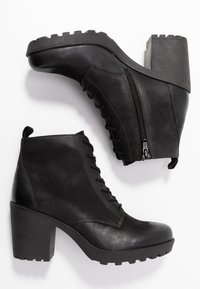 Anna Field - LEATHER CLASSIC ANKLE BOOTS - Støvletter - black - 3