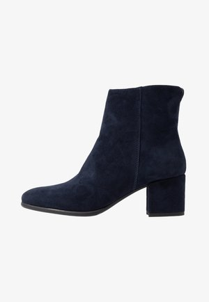 LEATHER CLASSIC ANKLE BOOTS - Bottines - dark blue