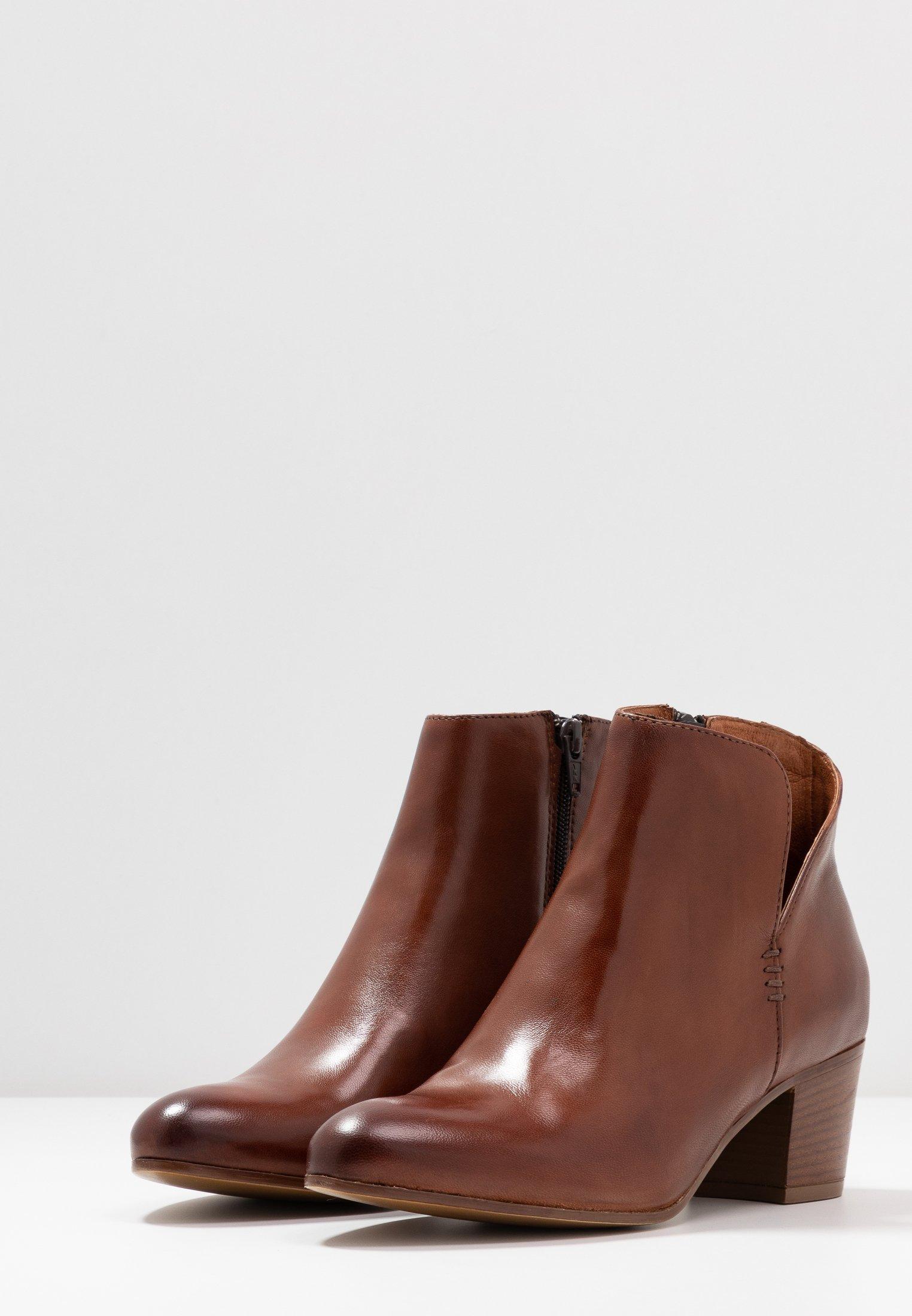 Anna Field Leather Booties - Ankelboots Cognac