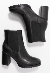 Anna Field - LEATHER ANKLE BOOTS - Ankelboots - black - 3