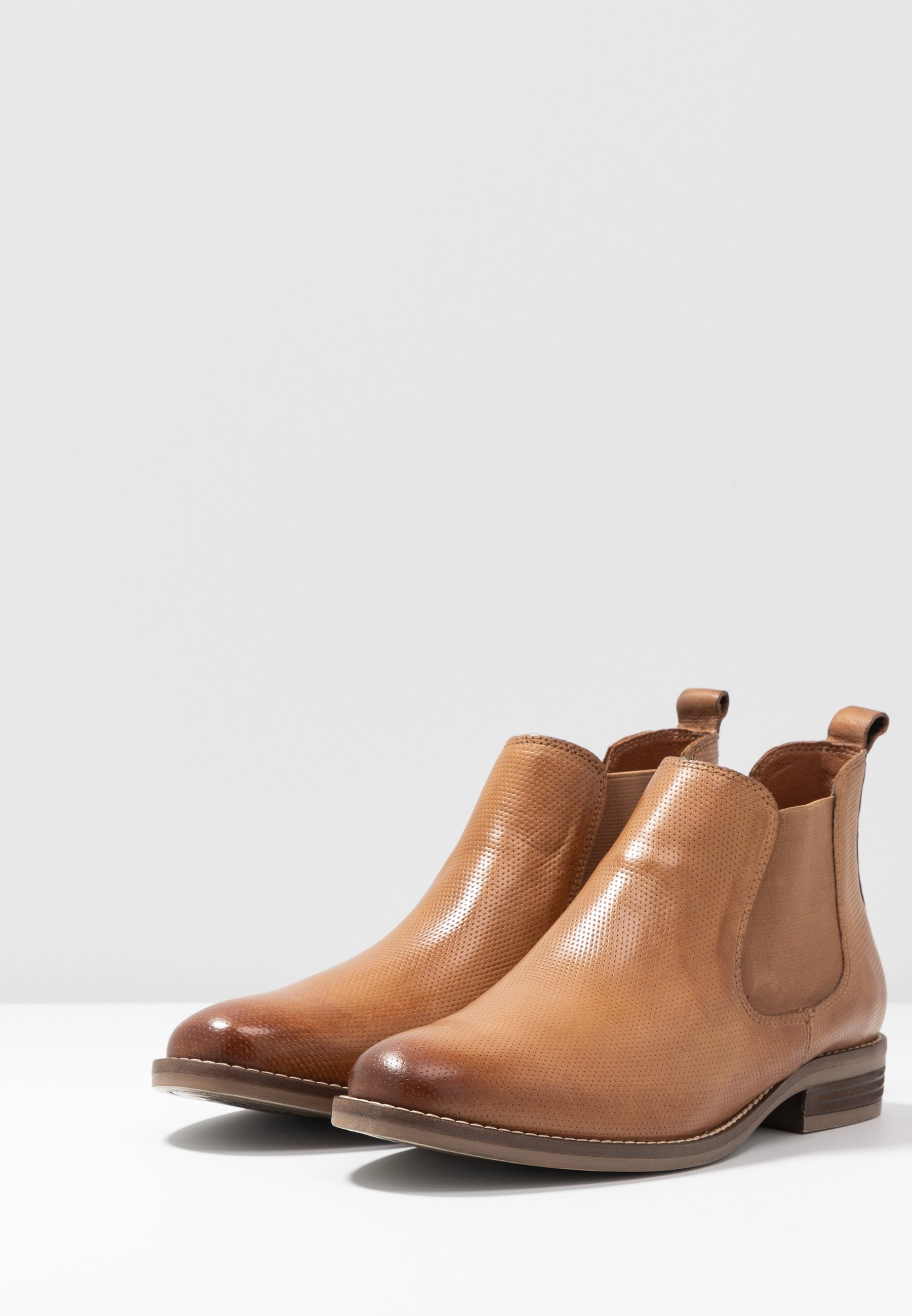 Anna Field LEATHER BOOTIES - Ankle boot - cognac