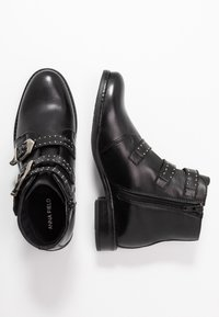 Anna Field - LEATHER BOOTIES - Boots à talons - black - 3