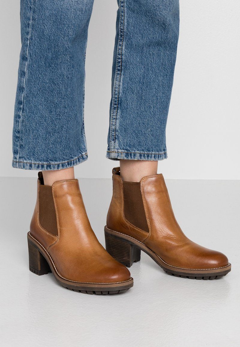 Anna Field - LEATHER BOOTIES - Ankle Boot - cognac