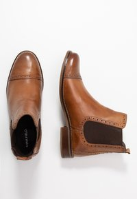 Anna Field - LEATHER BOOTIES - Botines - cognac - 3