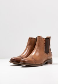 Anna Field - LEATHER BOOTIES - Botines - cognac - 4