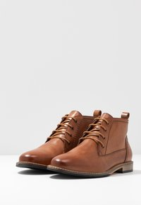 Anna Field - LEATHER BOOTIES - Lace-up ankle boots - cognac - 4