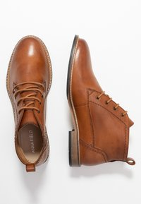 Anna Field - LEATHER BOOTIES - Lace-up ankle boots - cognac - 3