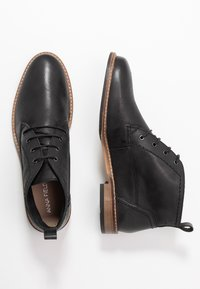 Anna Field - LEATHER BOOTIES - Lace-up ankle boots - black - 3