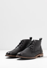 Anna Field - LEATHER BOOTIES - Lace-up ankle boots - black - 4