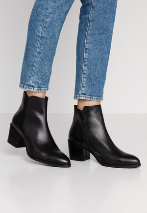 LEATHER BOOTIES - Ankelboots - black