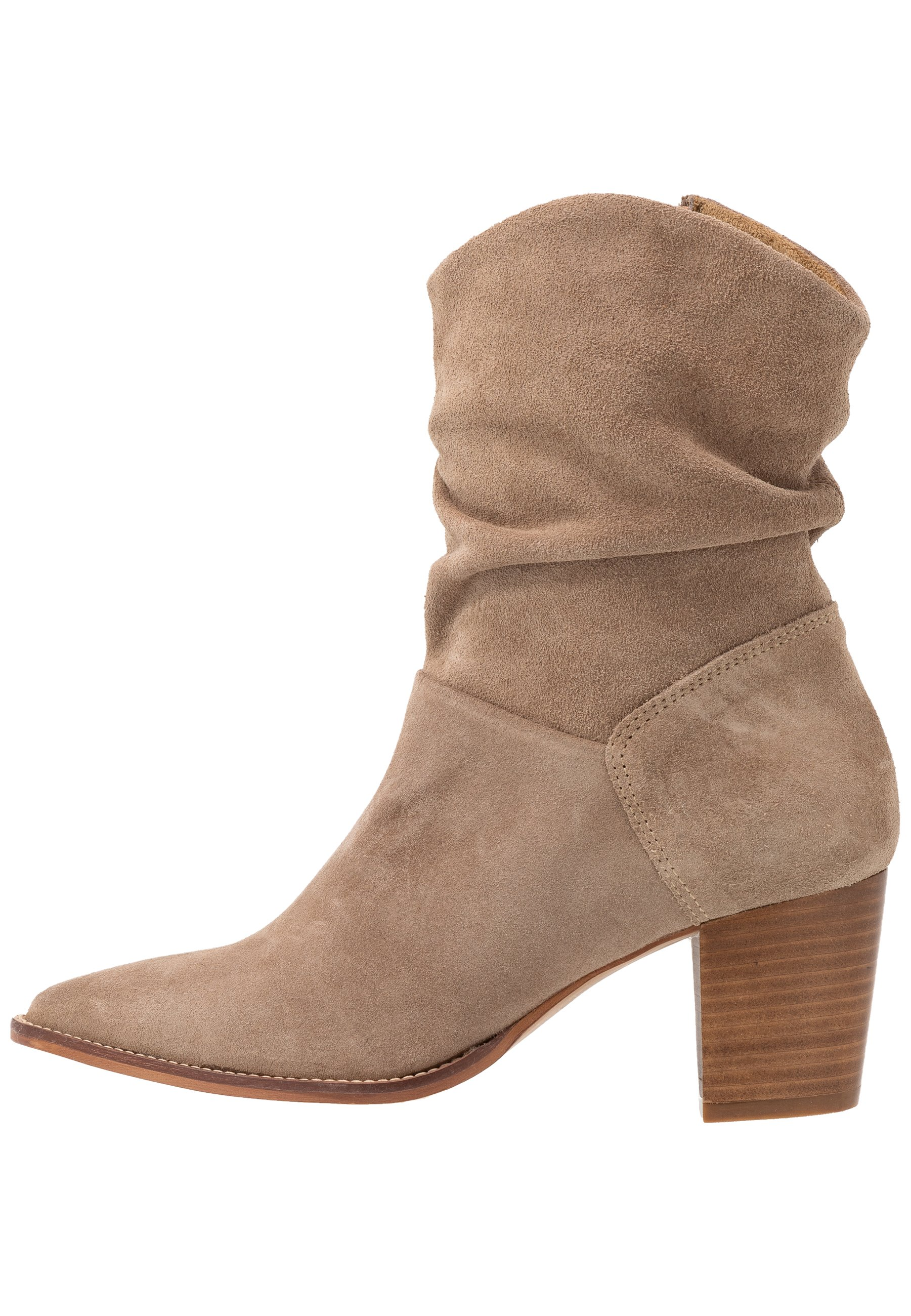 Anna Field Leather Classic Ankle Boots - Støvletter Taupe