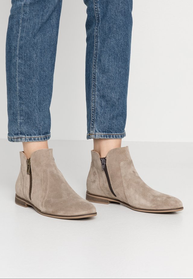 LEATHER ANKLE BOOTS - Ankle boot - beige