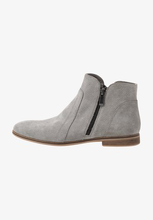LEATHER ANKLE BOOTS - Tronchetti - light grey