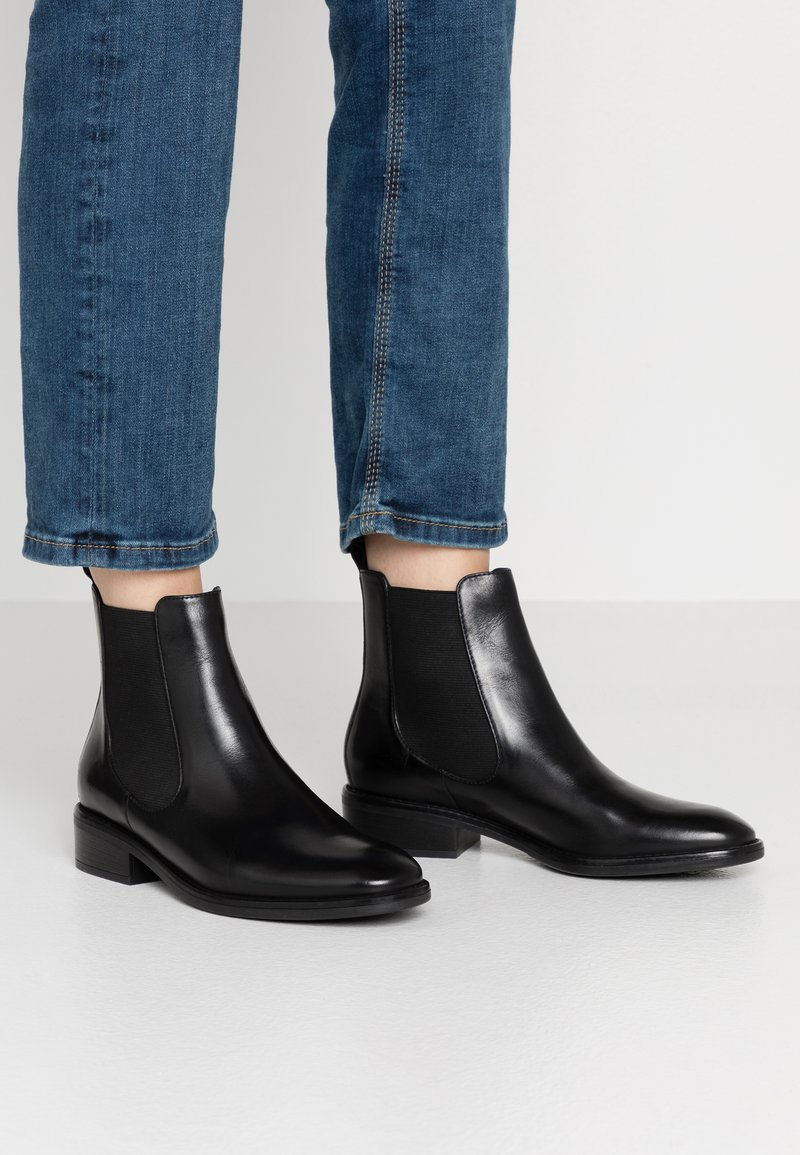 Anna Field - LEATHER CLASSIC ANKLE BOOTS - Classic ankle boots - black