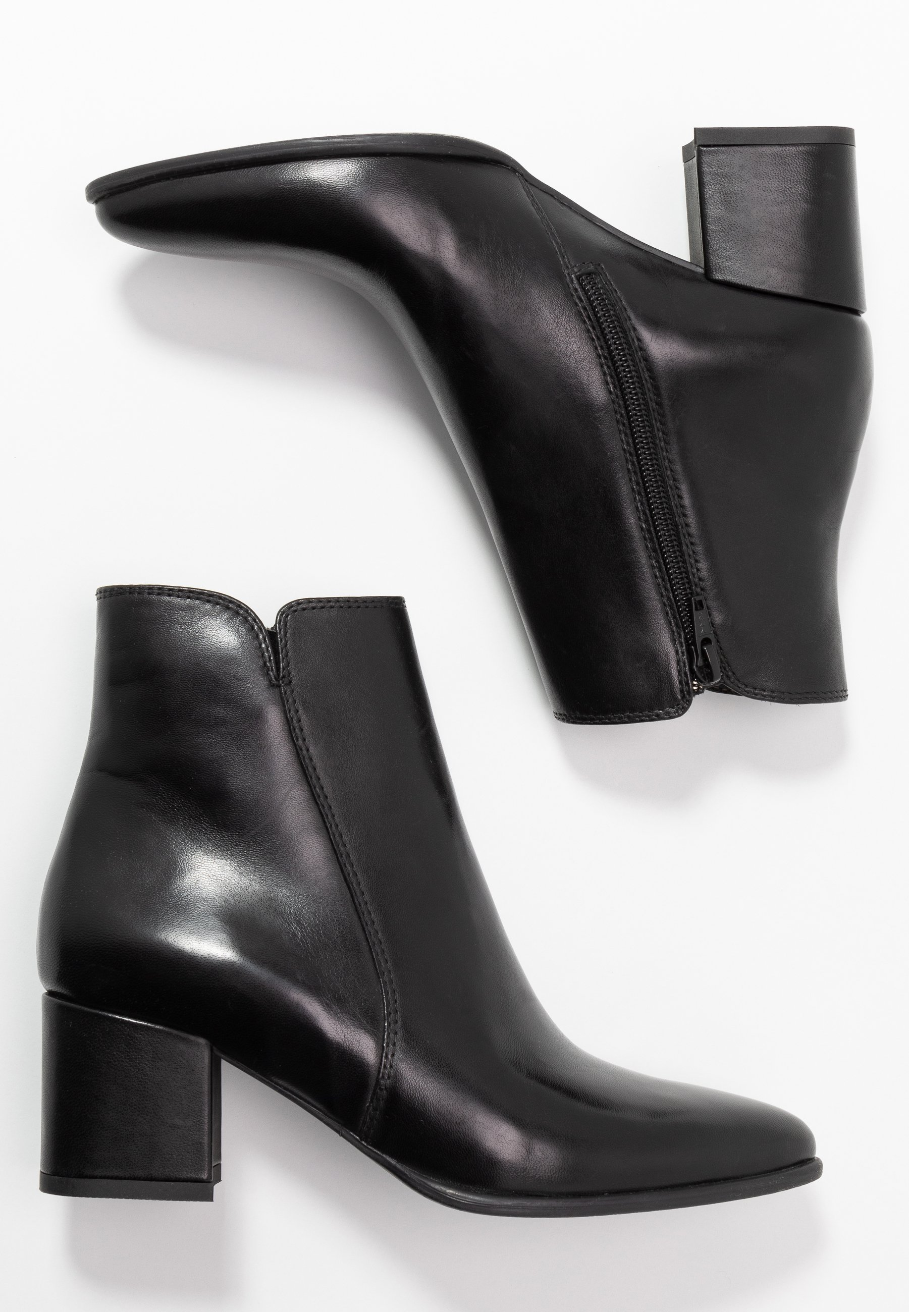 Anna Field LEATHER CLASSIC ANKLE BOOTS - Bottines - black