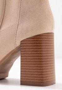 Anna Field - Kotníková obuv na vysokém podpatku - beige - 2