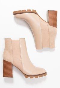 Anna Field - Kotníková obuv na vysokém podpatku - beige - 3