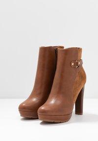 Anna Field - High heeled ankle boots - cognac - 4
