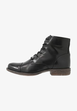 LEATHER BOOTIES - Boots à talons - black
