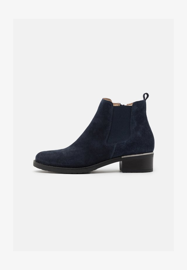 LEATHER - Ankle Boot - blue