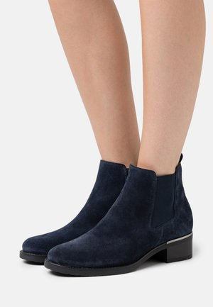 LEATHER - Ankle boots - blue