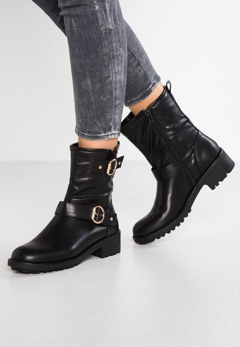 Anna Field - Cowboy/biker ankle boot - black