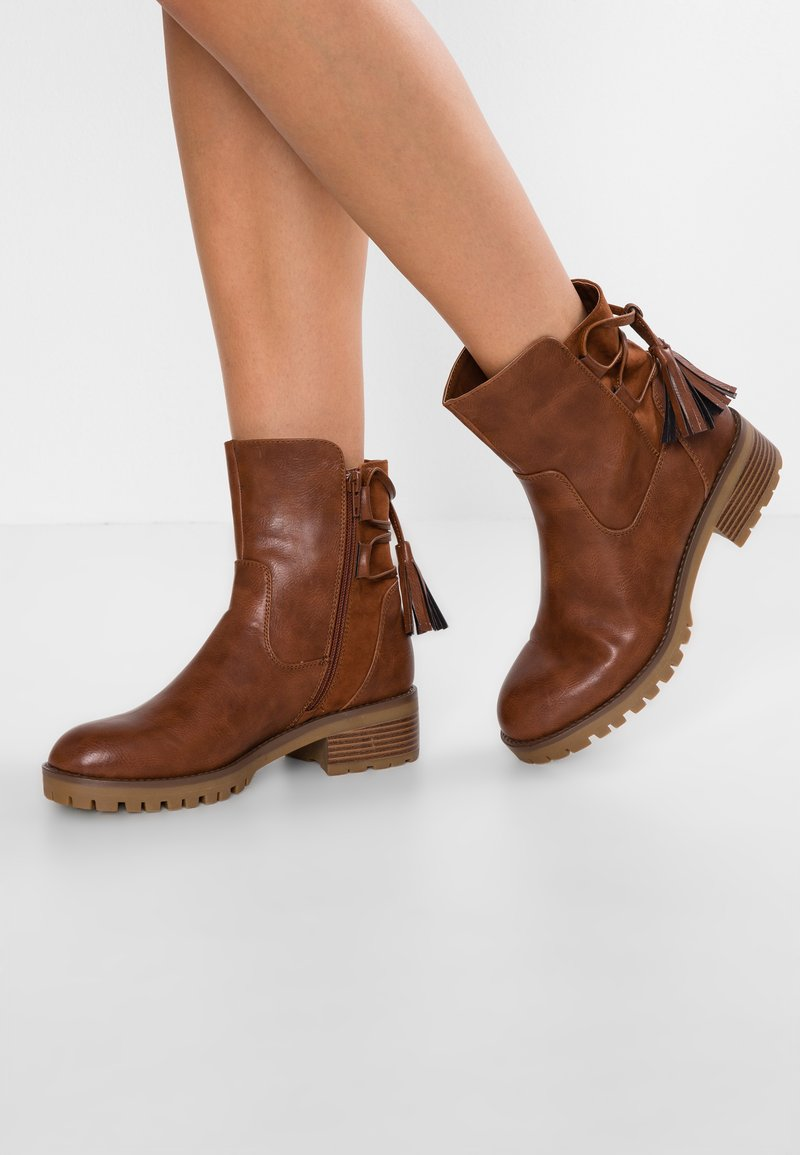 Anna Field - Bottines à lacets - cognac