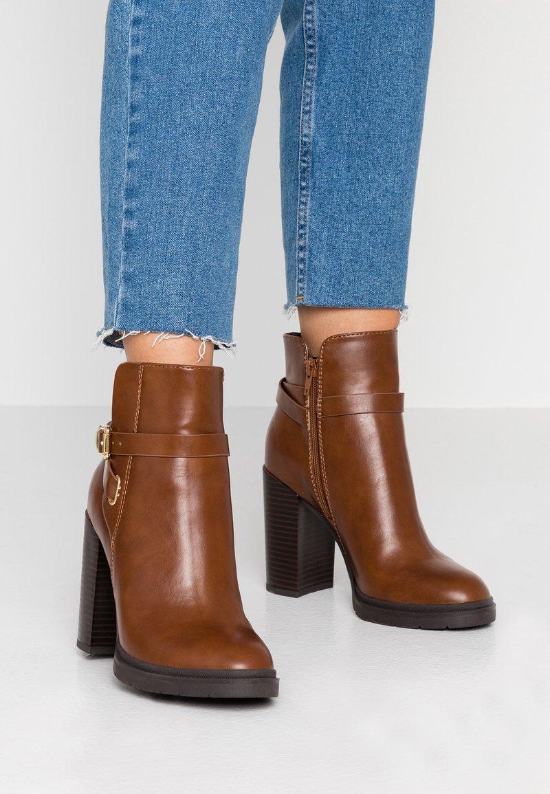 Anna Field - High heeled ankle boots - cognac