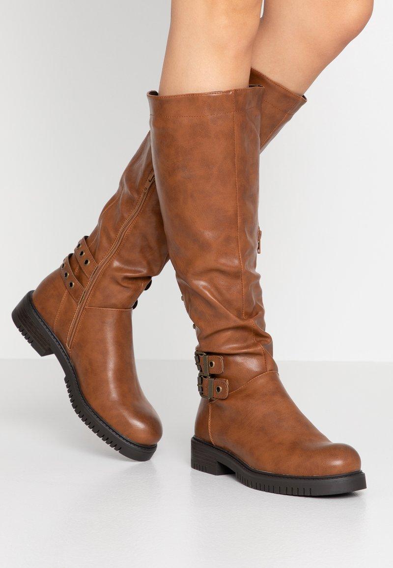 Anna Field - Kovbojské/motorkářské boty - brown