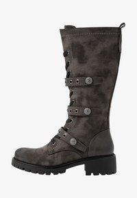 Anna Field - Šněrovací vysoké boty - dark grey - 1