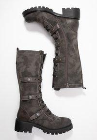Anna Field - Šněrovací vysoké boty - dark grey - 3