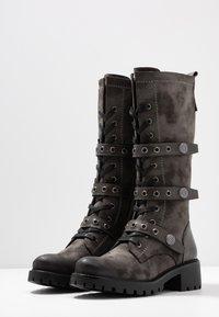 Anna Field - Šněrovací vysoké boty - dark grey - 4