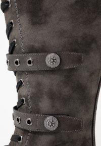 Anna Field - Šněrovací vysoké boty - dark grey - 2