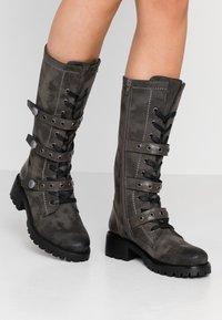 Anna Field - Šněrovací vysoké boty - dark grey - 0