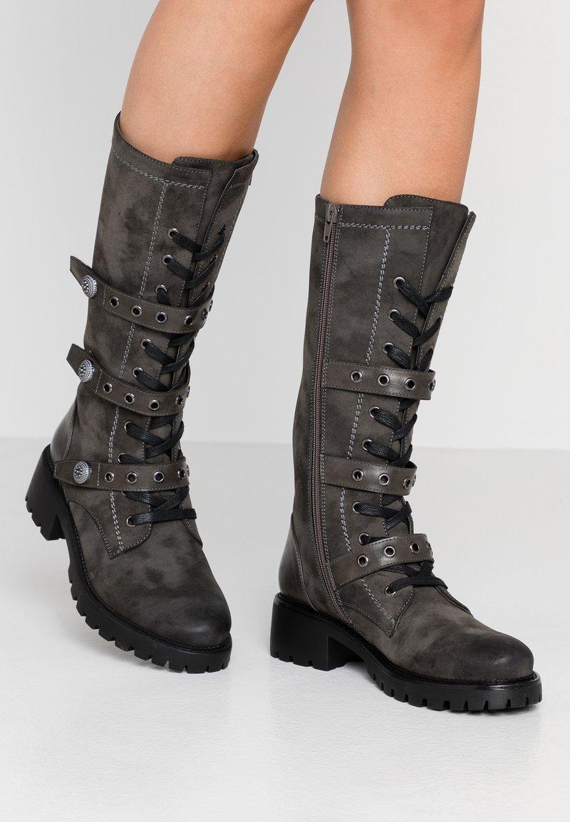 Anna Field - Šněrovací vysoké boty - dark grey