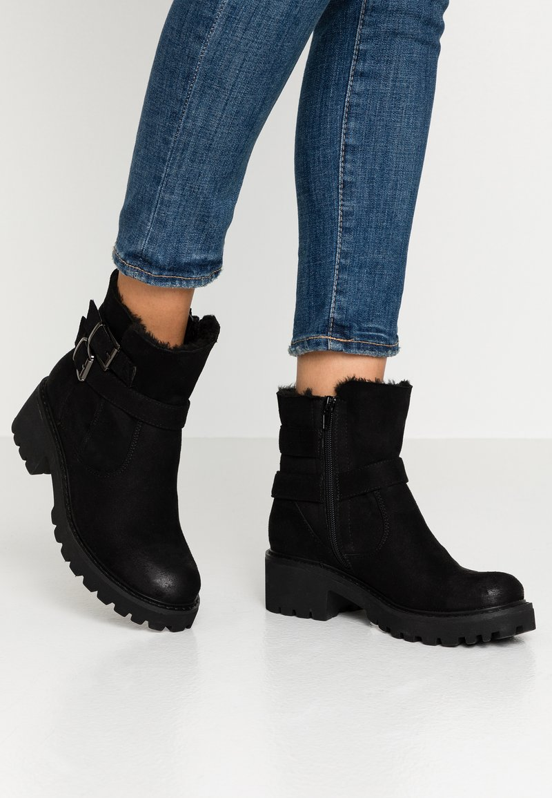 Anna Field - Cowboy/biker ankle boot - black