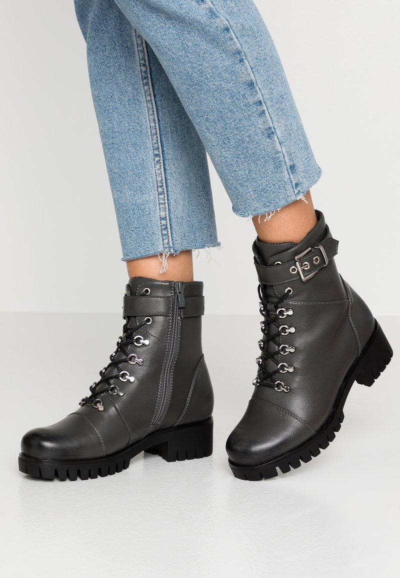 Anna Field - Šněrovací kotníkové boty - grey