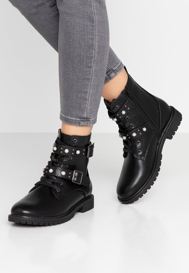 Anna Field - Kovbojské/motorkářské boty - black