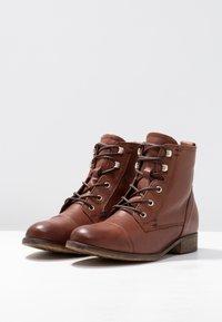 Anna Field - LEATHER WINTER BOOTIES - Winter boots - cognac - 4