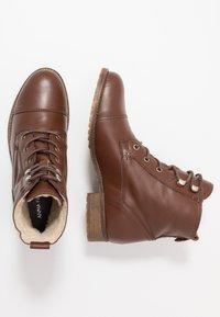 Anna Field - LEATHER WINTER BOOTIES - Winter boots - cognac - 3