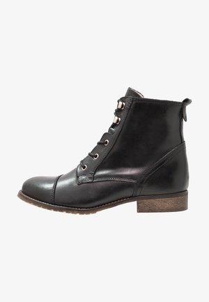 LEATHER WINTER BOOTIES - Botas para la nieve - black