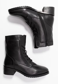 Anna Field - LEATHER WINTER BOOTIES - Lace-up ankle boots - black - 3