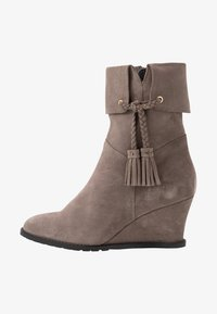 Anna Field - LEATHER WINTER BOOTIES - Winter boots - grey - 1