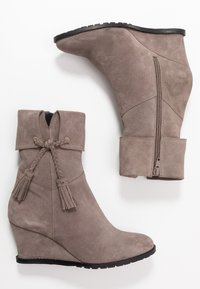 Anna Field - LEATHER WINTER BOOTIES - Winter boots - grey - 3
