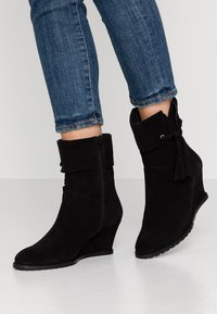Anna Field - LEATHER WINTER BOOTIES - Winter boots - black - 0