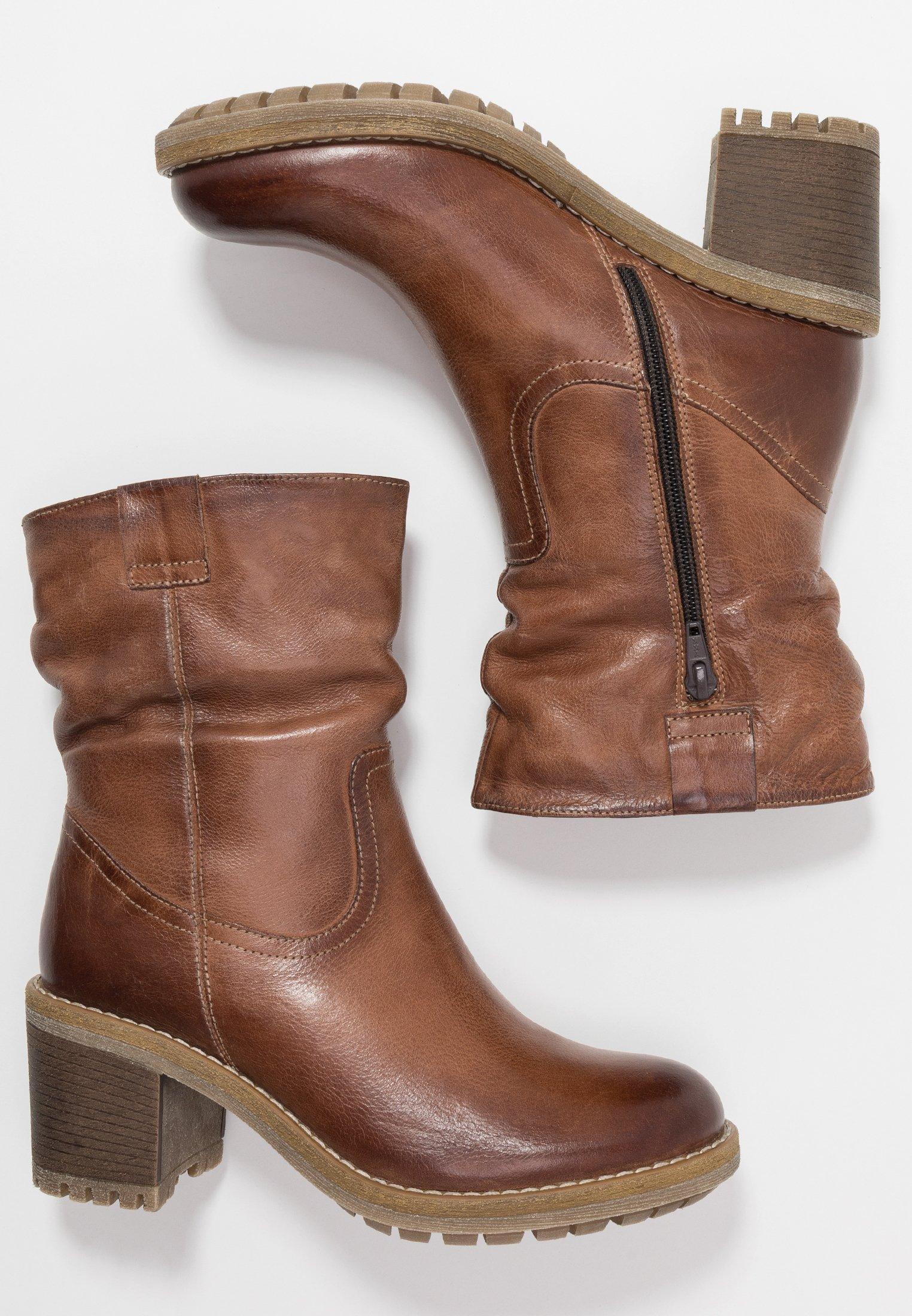 Anna Field Leather Winter Booties - Snowboot/winterstiefel Brown Black Friday