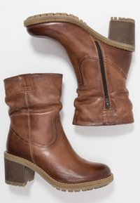 Anna Field - LEATHER WINTER BOOTIES - Śniegowce - brown - 3