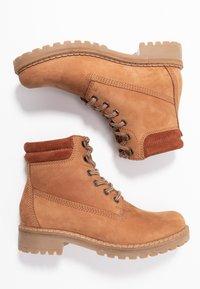 Anna Field - LEATHER WINTER BOOTS - Winter boots - cognac - 3