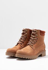 Anna Field - LEATHER WINTER BOOTS - Winter boots - cognac - 4